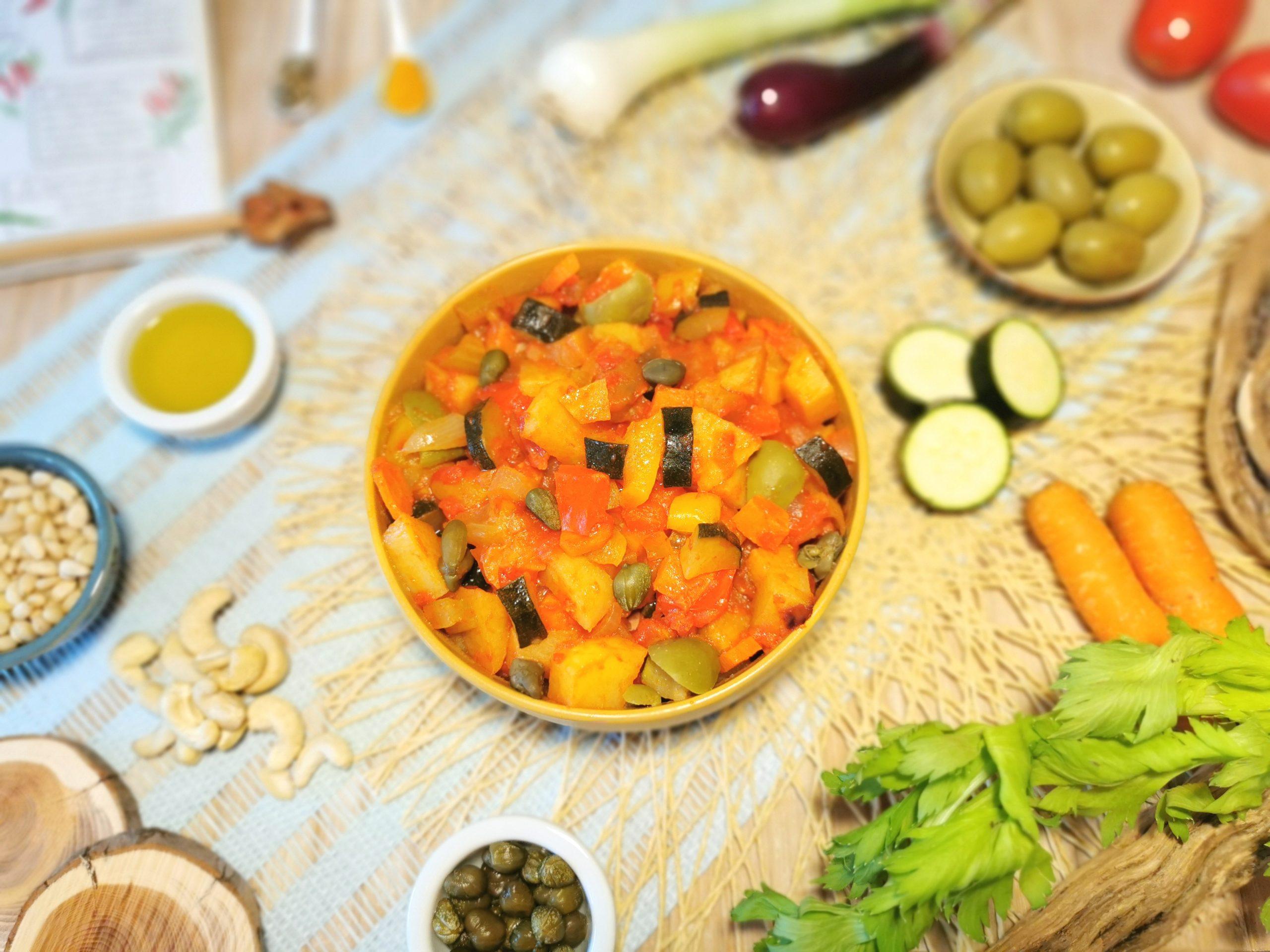 Caponata siciliana non fritta