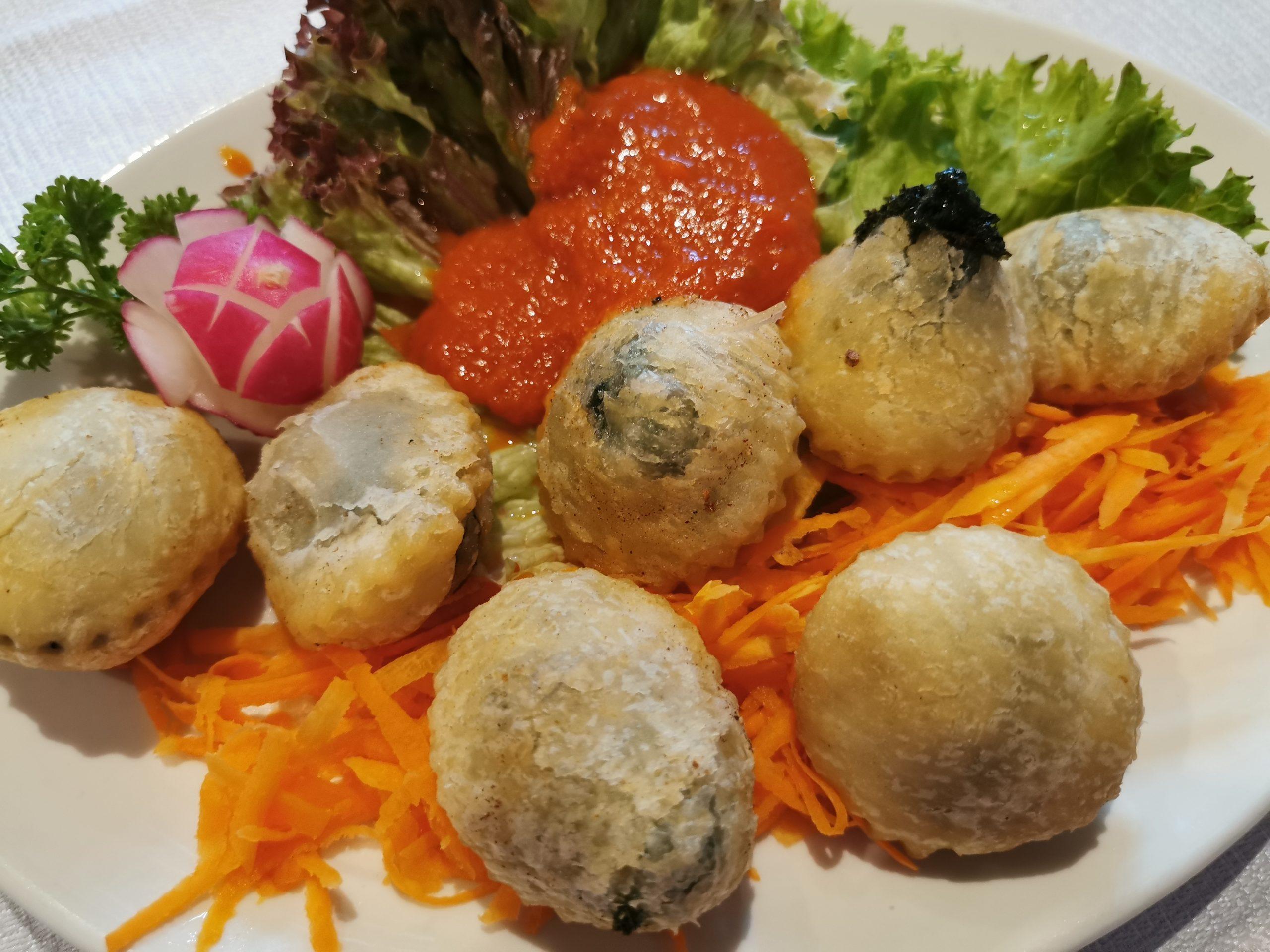 sfogliatine vegetali di ortica del ristorante el tobià