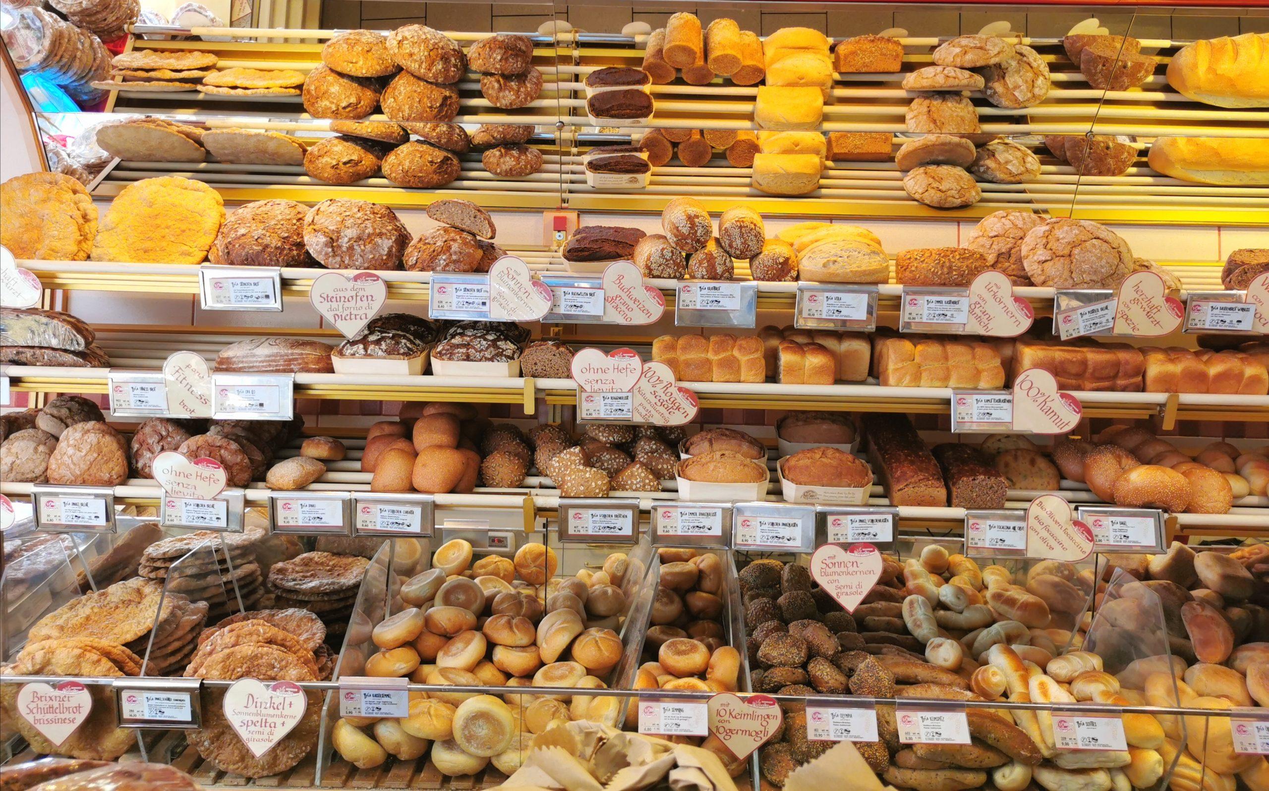 il pane del panificio Profanter a Bressanone