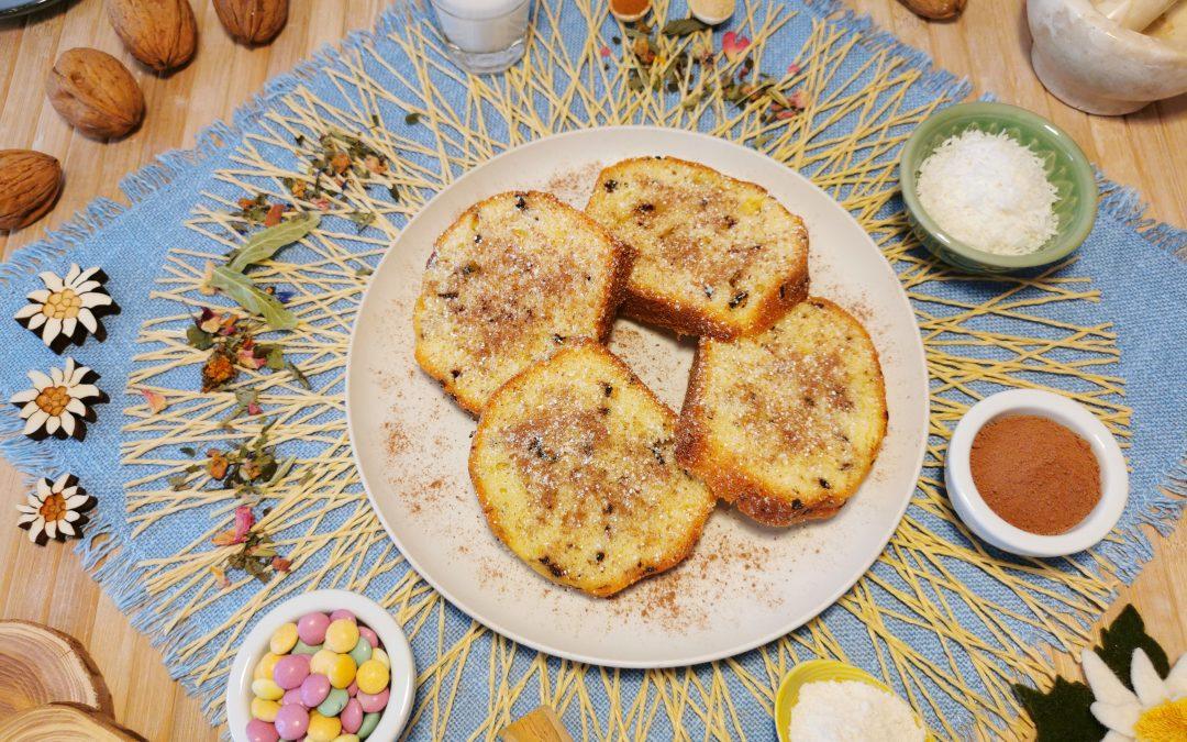 Banana Bread con noci, maca e cioccolato