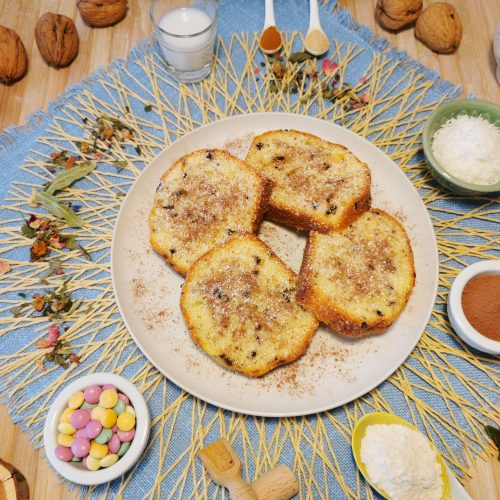 banana bread con noci maca e cioccolato per sportivi