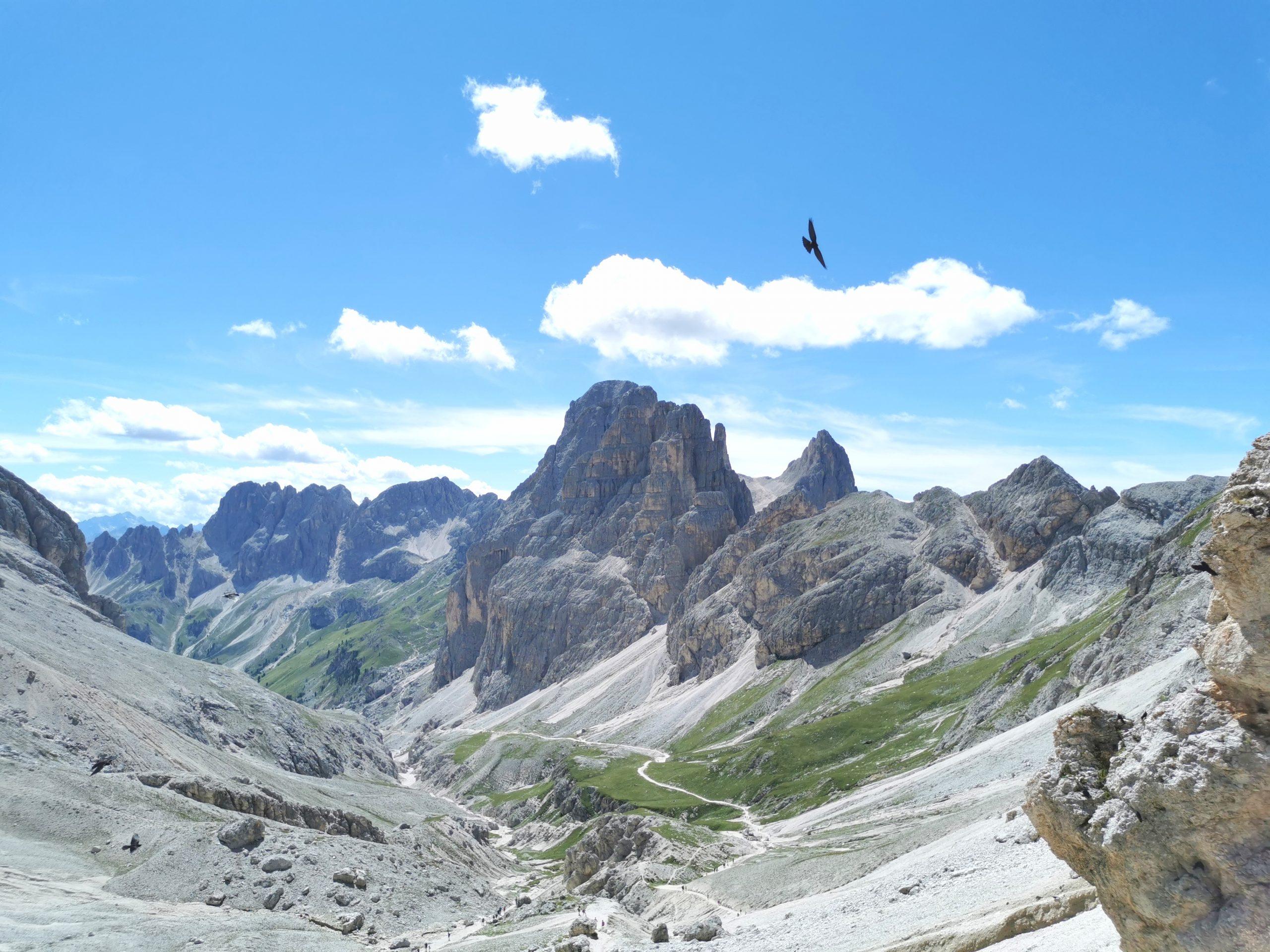 panorama dal Passo Principe in Val di Fassa