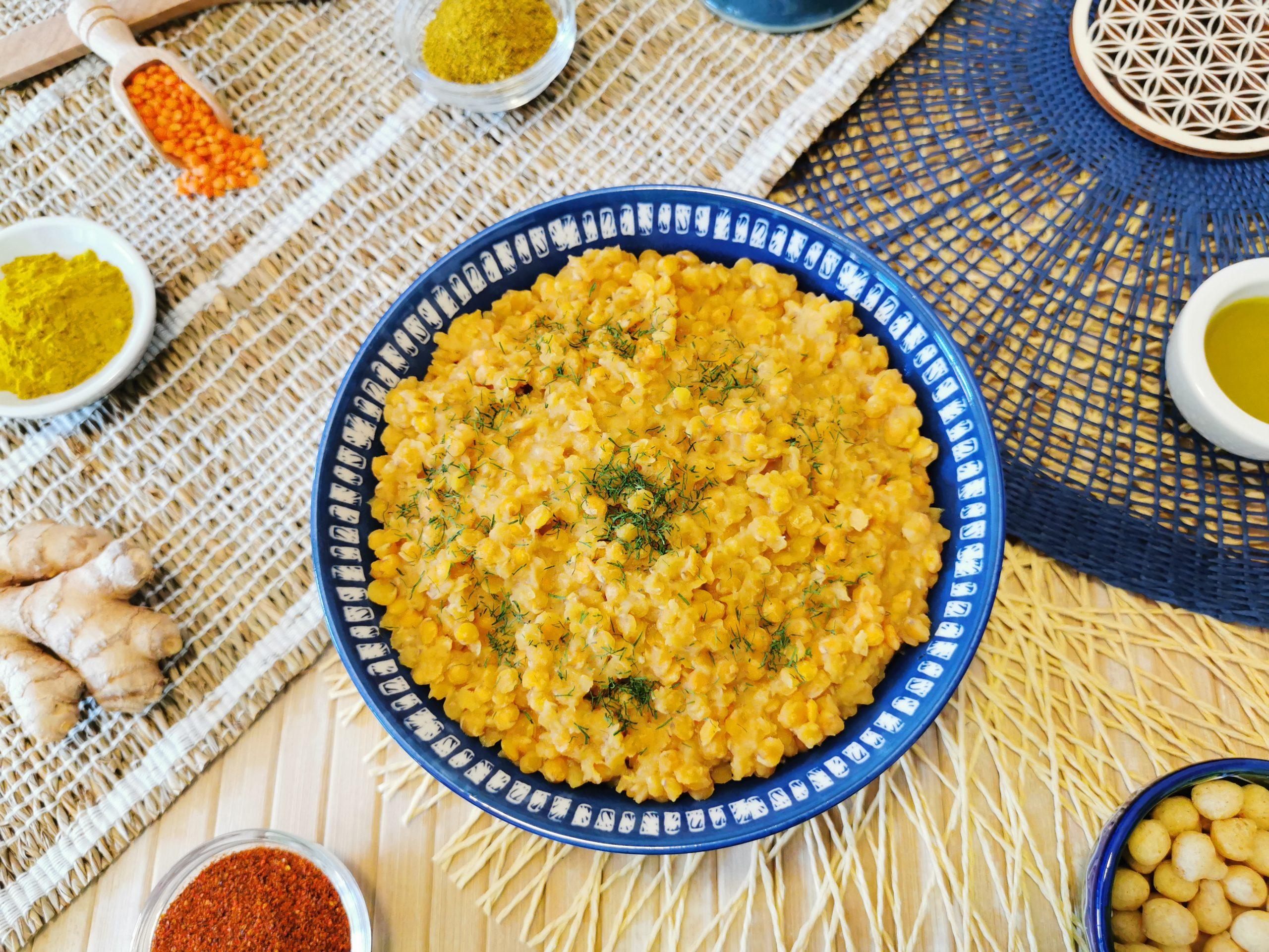 zuppa di lenticchie rosse al latte di cocco