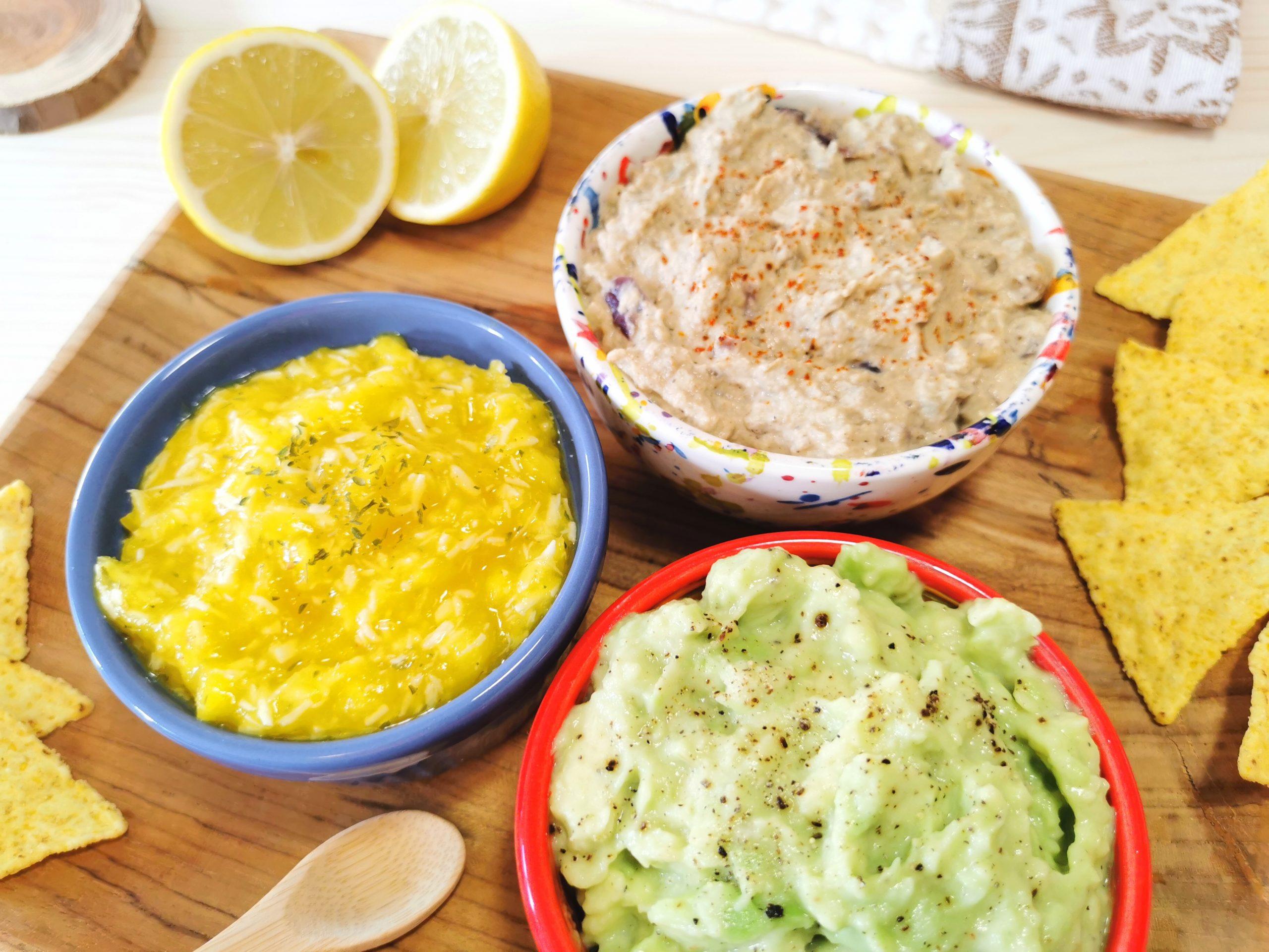 Tre salse vegane - idee per condire bruschette e panini