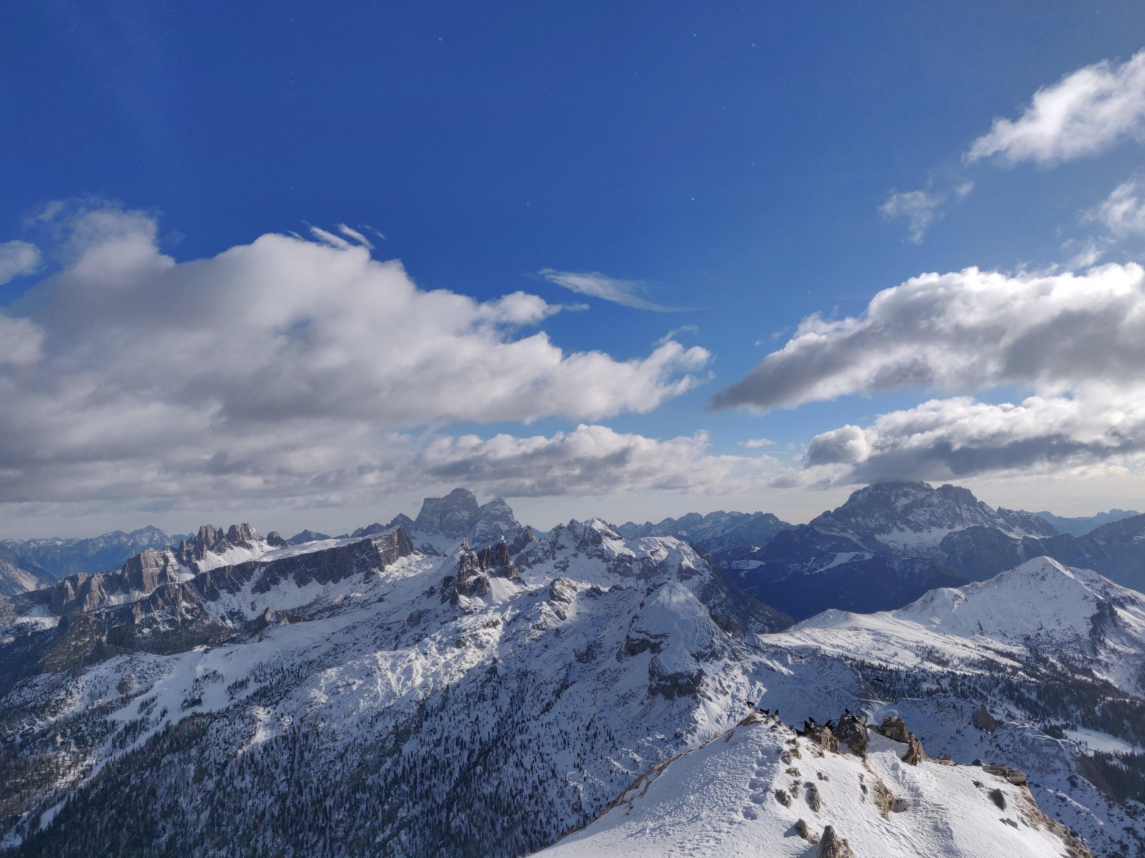 Panorama delle Dolomiti verso Passo Giau