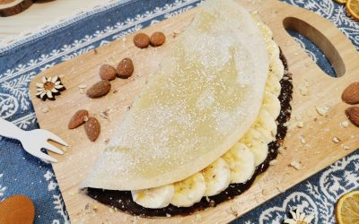 Crêpe senza uova banana e cioccolato
