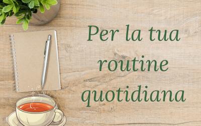 Routine quotidiana: 5 nuove abitudini sane